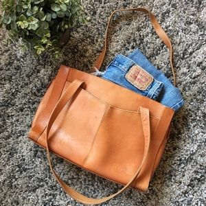 VTG Leather Tote Bag